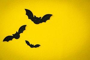 Halloween concept - spiders, bats
