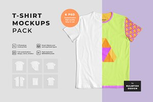 Customizable T-Shirt Mockups Pack