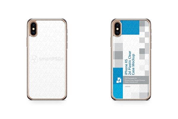 Apple iPhone Xs 2d PC Clear Case