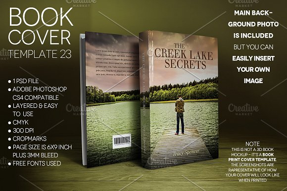 Book Cover Print Template 23