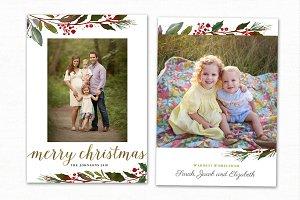 Christmas Card Template CC190
