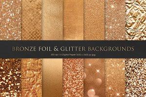 Bronze Foil & Glitter Textures