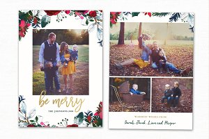 Christmas Card Template CC186