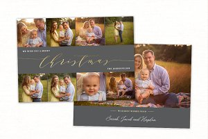 Christmas Card Template CC184