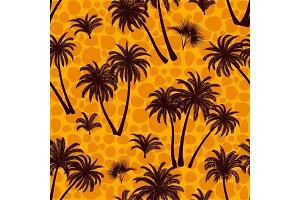 Tropical Palms Seamless