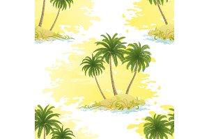 Island with Palms Seamless