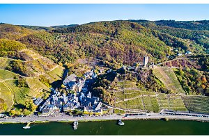 Aerial view of Beilstein town with