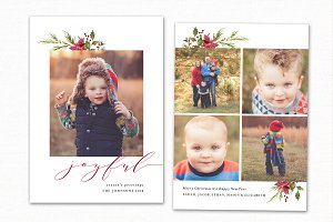 Christmas Card Template CC182