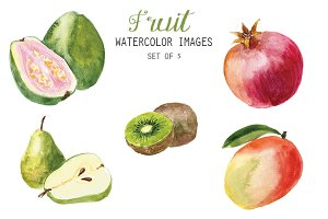 Watercolor Fruit Clipart