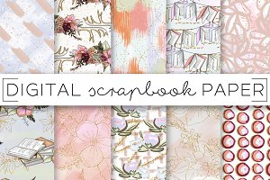Pastel Abstract Painterly Paper Set
