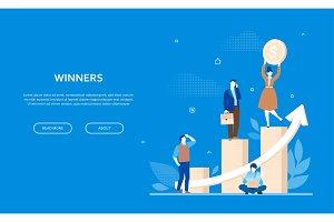 Winners concept - flat banner