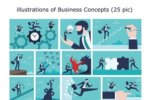 Illustration of Business concept .