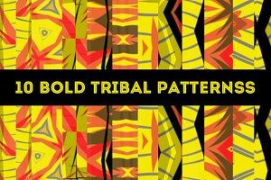 10 Bold Tribal Vector Patterns