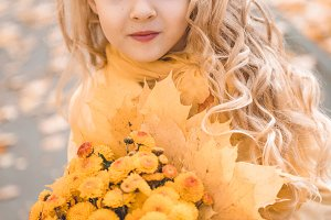 Little beautiful girl with blond