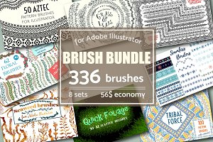 Brush Bundle | 336 vector brushes