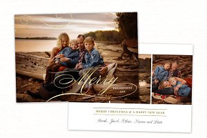 Christmas Card Template CC178