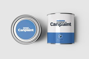 Can of Paint Mock-up 4