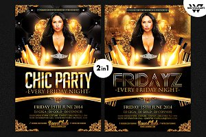 2in1 CHIC PARTY Flyer Template