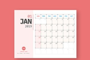 calendar 2018 planner design stationery templates creative market