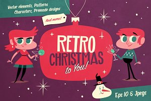 Retro Christmas Vector Pack