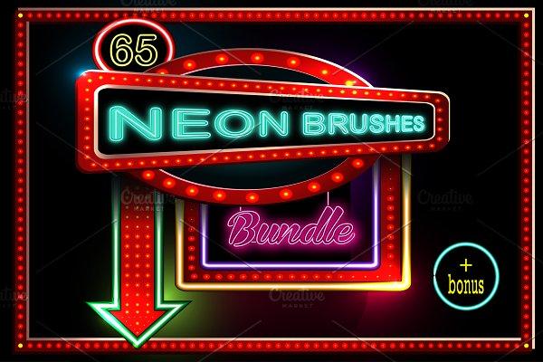 65 Neon brushes bundle.