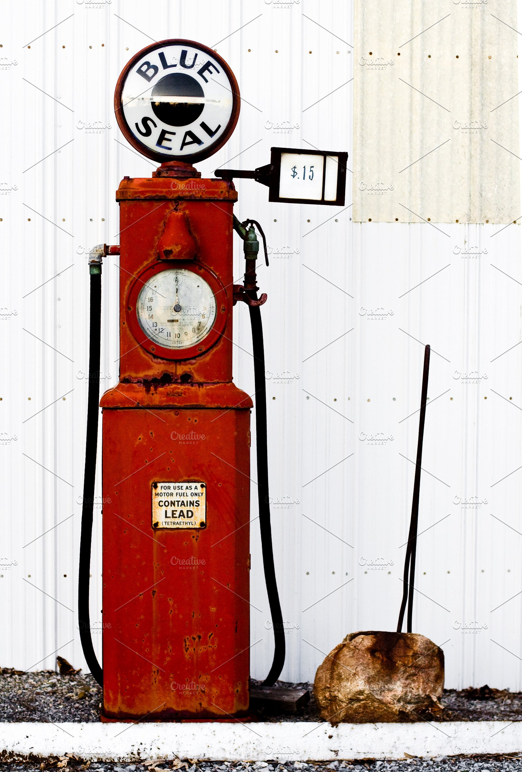 Red Vintage Gas Pump