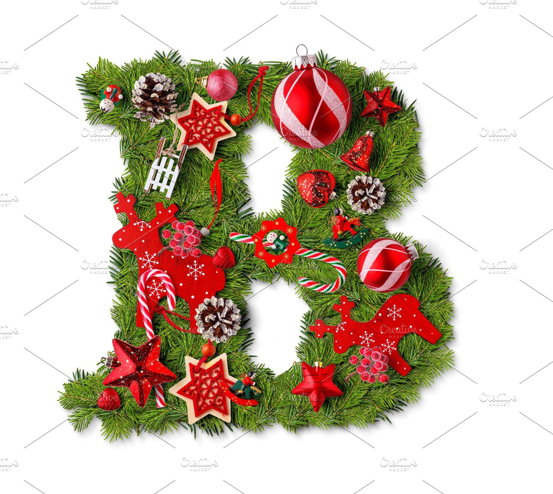 Christmas Alphabet.Christmas Alphabet Letter B
