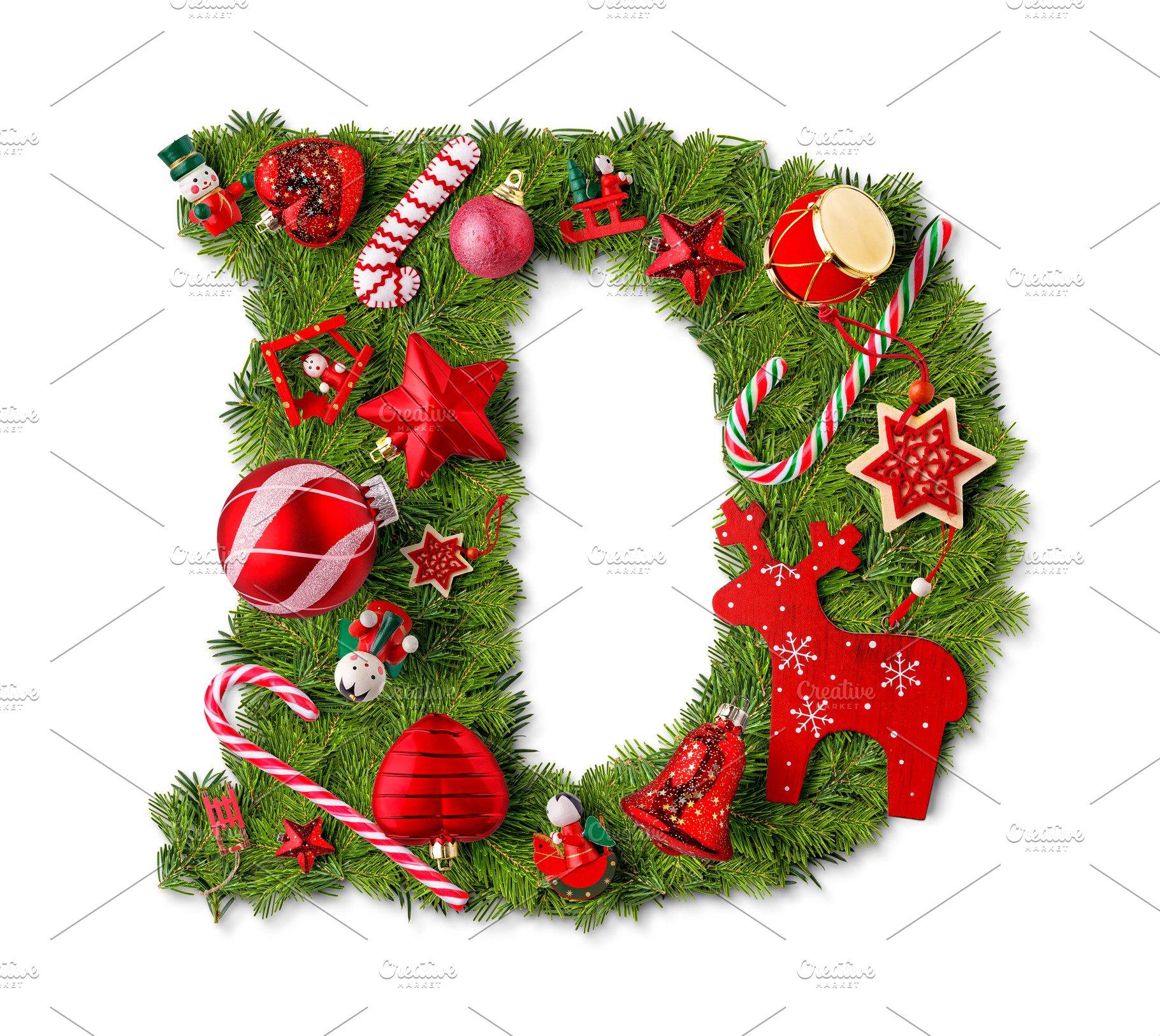 Christmas Alphabet.Christmas Alphabet Letter D