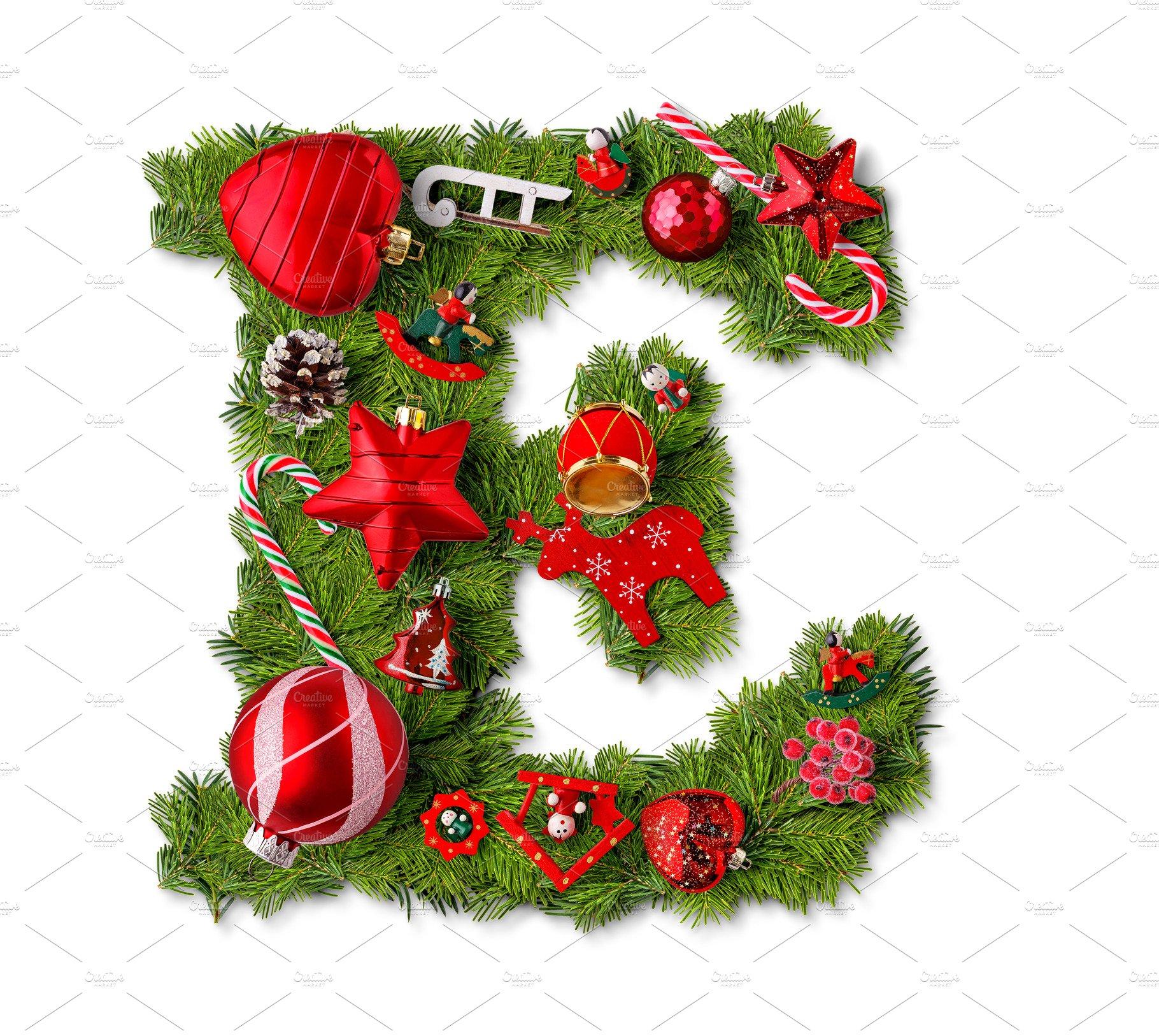 Christmas alphabet letter E ~ Holiday Photos ~ Creative Market