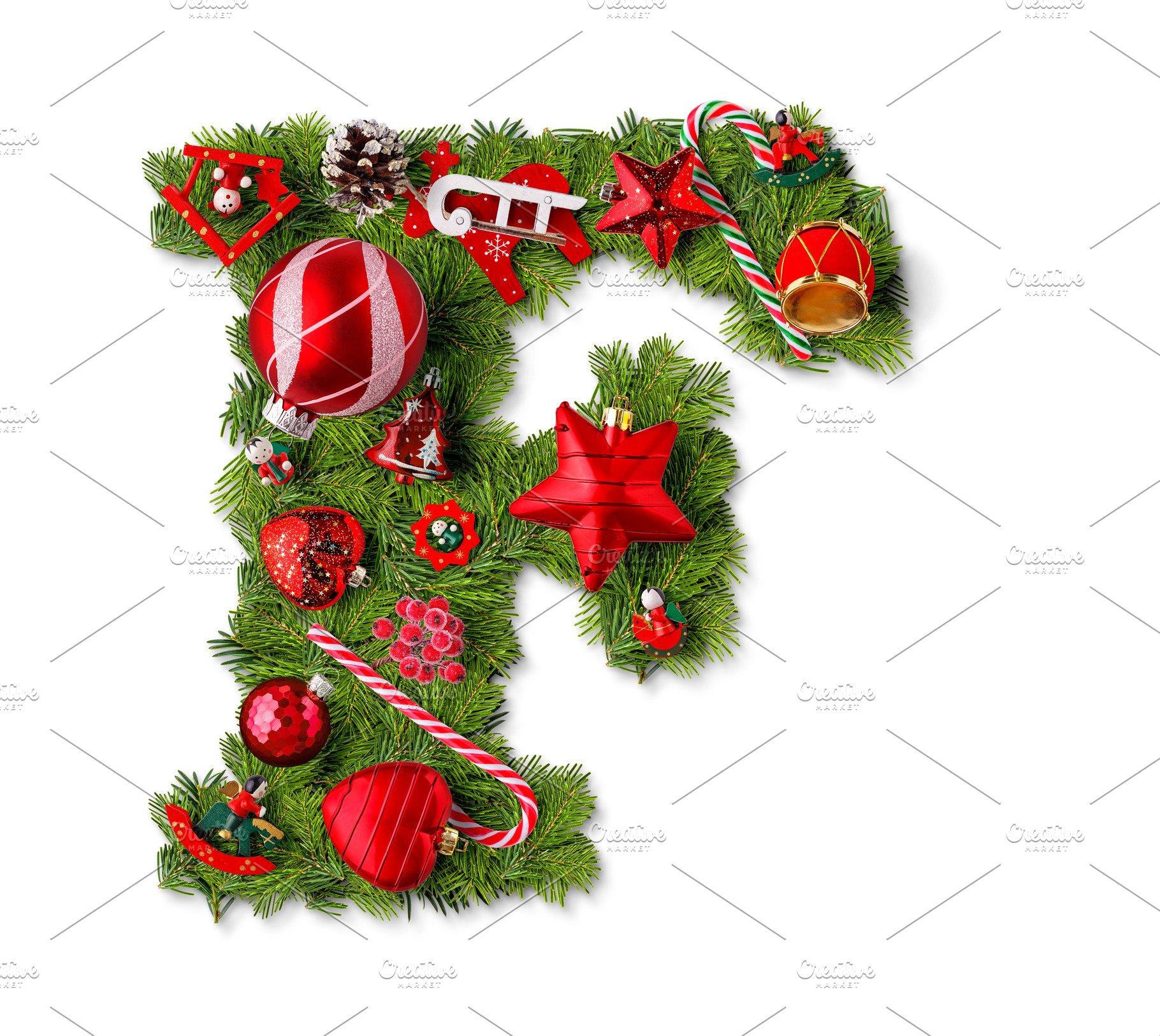 Christmas Alphabet.Christmas Alphabet Letter F