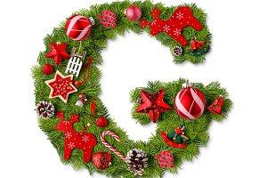 Christmas alphabet letter G