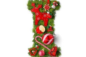 Christmas alphabet letter I