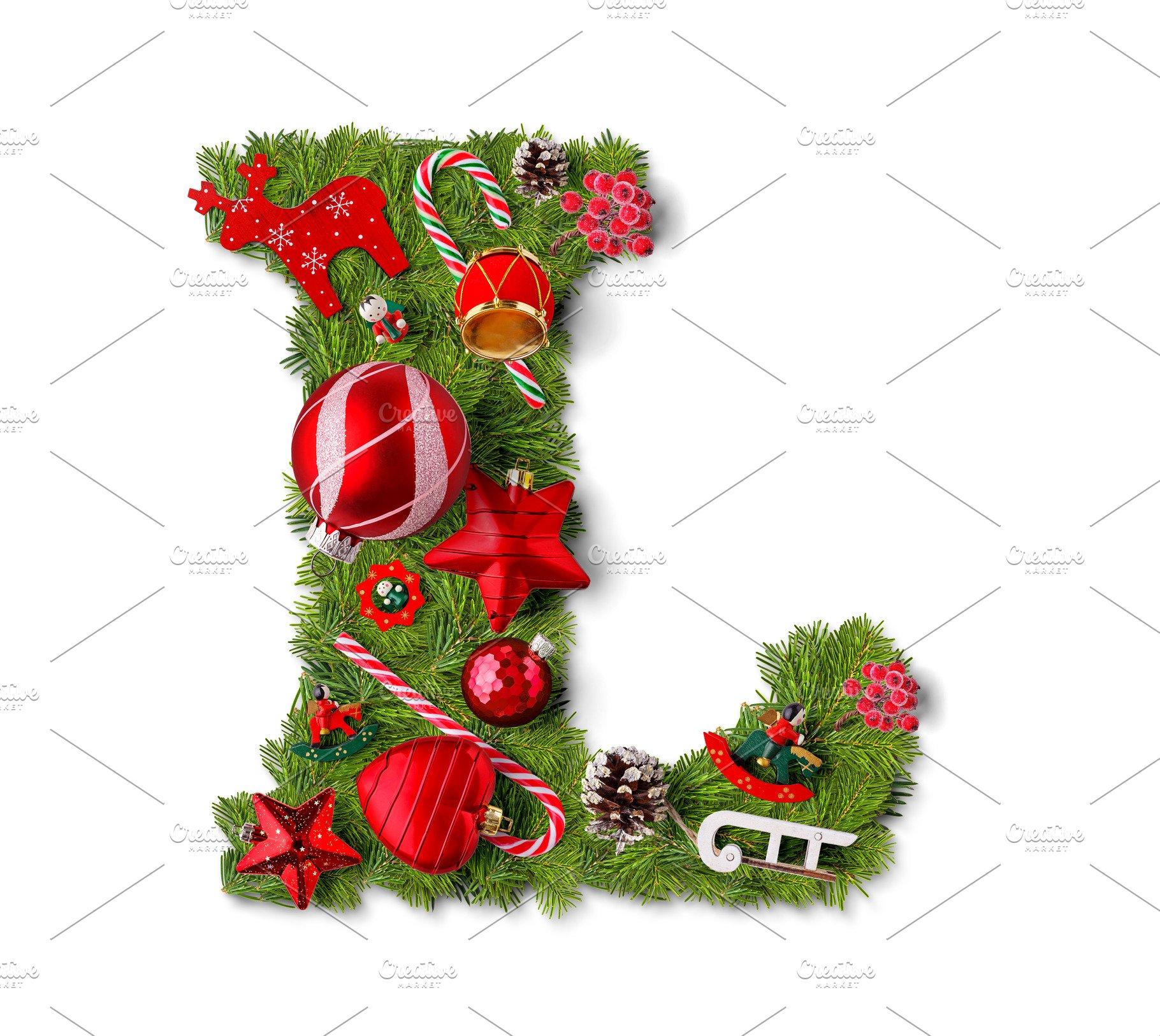 Christmas Alphabet.Christmas Alphabet Letter L