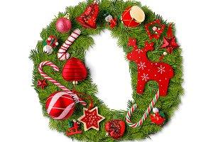 Christmas alphabet letter O