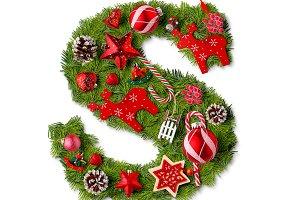 Christmas alphabet letter S