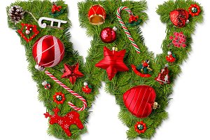 Christmas alphabet letter W