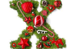 Christmas alphabet letter X