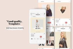 Elegant and stylish social media