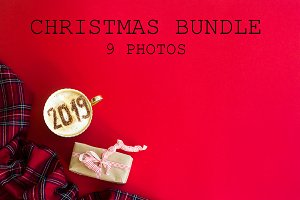 Red Christmas Stock Photos BUNDLE
