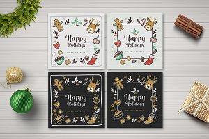Holiday Social Media Posts & Card