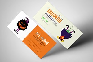 Halloween Party Vouchers Templates