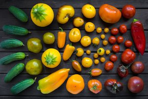 different varieties of vegetables