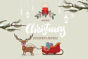 CHRISTMAS DESIGNER's VECTOR SET