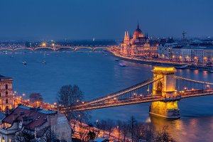 Panorama of Budapest, Hungary, with
