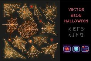 Vector neon Halloween