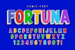 Trendy 3d comical font design