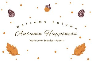 Autumn Happiness Seamless Pattern