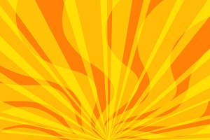 yellow fire pop art background