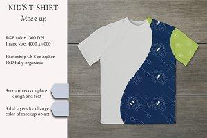 Kids t-shirt mockup. Product mockup.