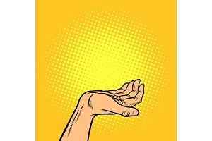 human hand presentation gesture